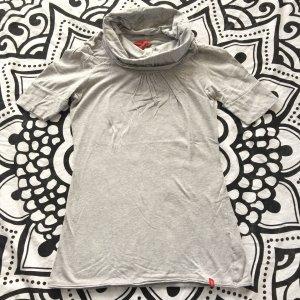 Esprit Shirt kurzarm Gr. S grau Rollkragen