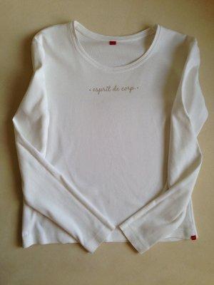 ESPRIT Shirt mit Glitzersteinchen creme Gr. M