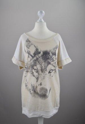 Esprit Shirt mit Wolfskopfaufdruck creme Größe S