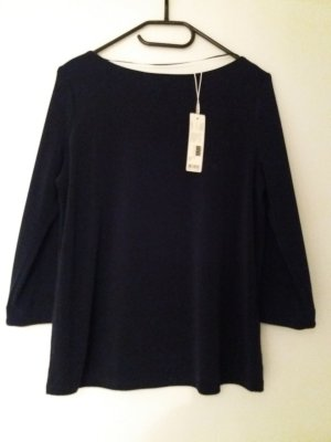 Esprit Boothalsshirt donkerblauw