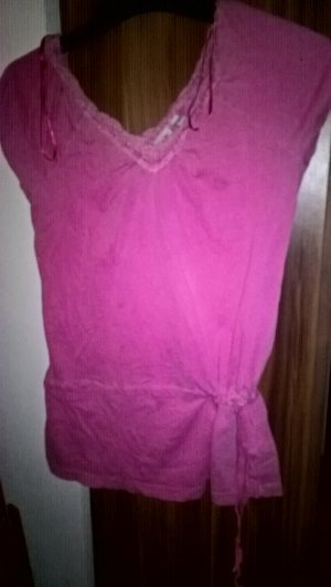 edc by Esprit Cropped Shirt pink cotton