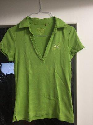 Esprit Shirt Poloshirt V-Ausschnitt Kragen Gr. S