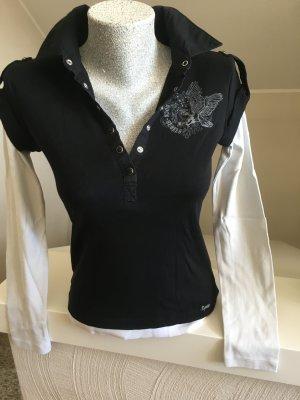 Esprit, Shirt, schwarz-weiß, Größe S, guter Zustand