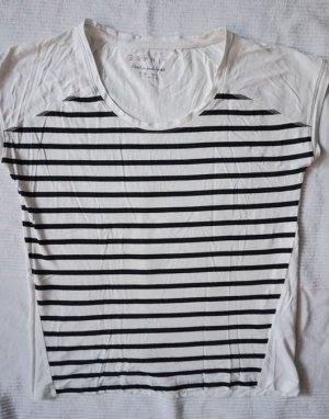 Esprit Camisa de rayas blanco puro-negro