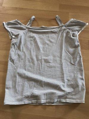 Esprit Gestreept shirt wit-zwart