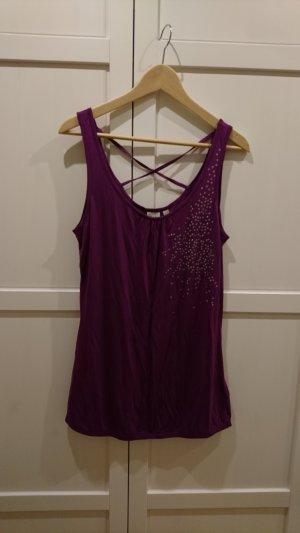 Esprit Shirt, Top, violett, Größe L, neu