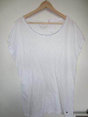 Esprit Shirt weiß mit Strasssteinen