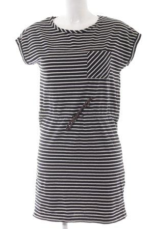 Esprit Shirtkleid dunkelblau-weiß Ringelmuster Casual-Look