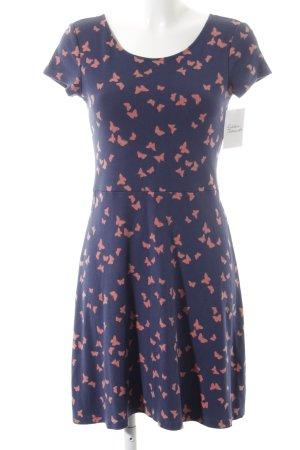 Esprit T-shirt jurk zalm-donkerblauw dierenprint Beach-look