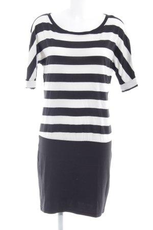 Esprit Shirtkleid taupe-weiß Streifenmuster Casual-Look