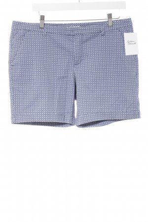 Esprit Shorts weiß-kornblumenblau abstraktes Muster Casual-Look