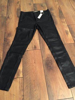 Esprit Leren broek zwart