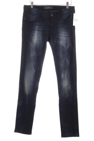 Esprit Skinny Jeans dunkelblau-wollweiß Washed-Optik