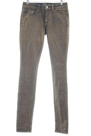 Esprit Skinny Jeans hellbraun-schwarz Casual-Look