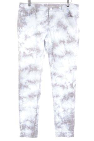 Esprit Skinny Jeans hellbraun-weiß Casual-Look