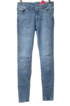 Esprit Skinny Jeans stahlblau Bleached-Optik