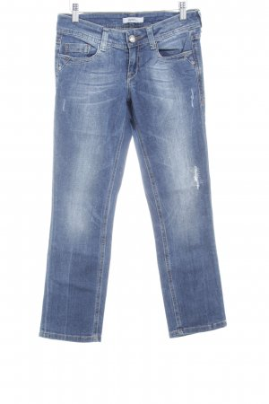 Esprit Skinny Jeans stahlblau Destroy-Optik