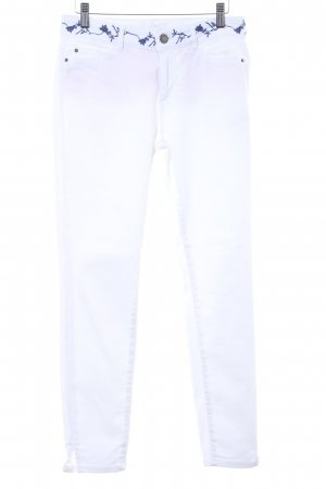 Esprit Skinny Jeans weiß-blau Casual-Look