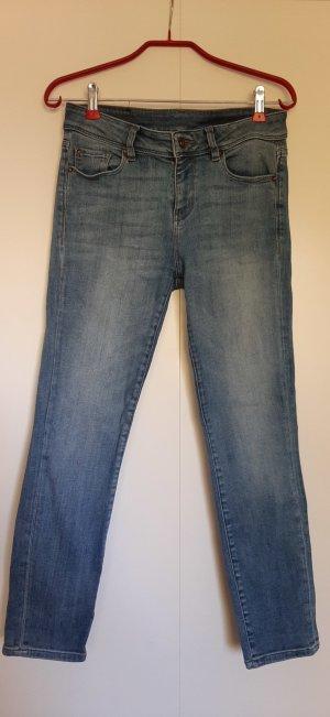 Esprit Slim Fit Jeans knöchellang mittelblau High Waist Gr. 29 (fällt kleiner aus!)