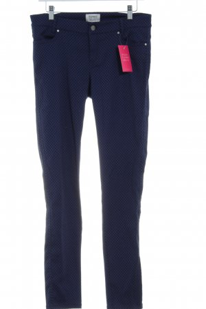 Esprit Slim Jeans blau-schwarz Punktemuster Street-Fashion-Look