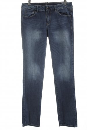 Esprit Slim Jeans blau-wollweiß Washed-Optik