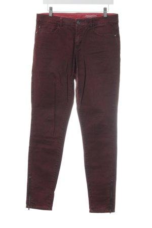Esprit Slim Jeans bordeauxrot Jeans-Optik
