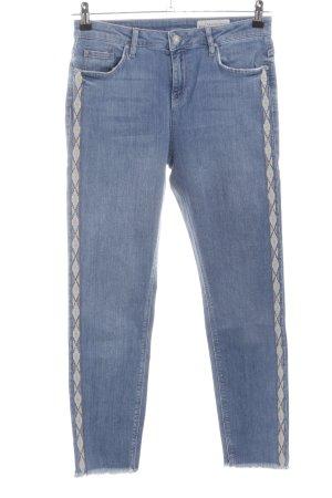 Esprit Slim Jeans abstraktes Muster Casual-Look