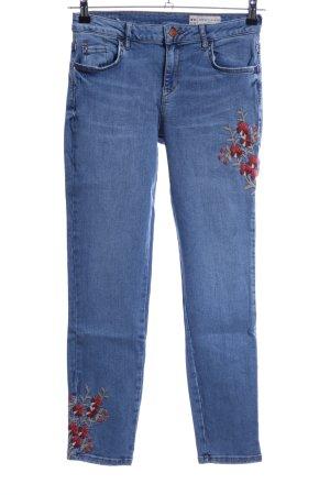 Esprit Slim Jeans blau Blumenmuster Casual-Look