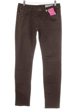 Esprit Slim Jeans dunkelbraun Casual-Look