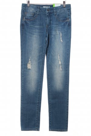 Esprit Slim Jeans graublau Destroy-Optik