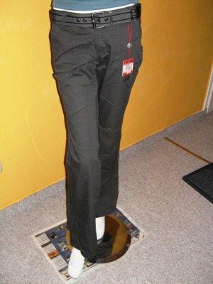 Esprit, Smart Straight Fit Hose Grau Gr. 36 Reg. mit Gürtel