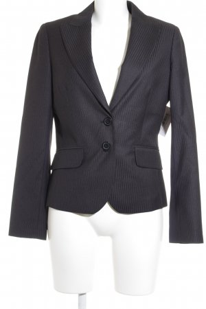 Esprit Smoking-Blazer schwarzbraun-anthrazit Streifenmuster Business-Look