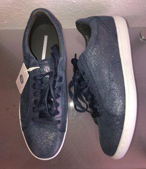 Esprit Sneaker Blau Jeansblau Leder 39 Neu m. Etikett