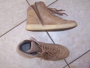 Esprit Sneaker High Schnürstiefelette Gr. 38 braun beige