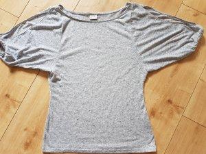 Esprit Sommer Romantik Shirt Blau Meliert geschlitzte Ärmel S 36
