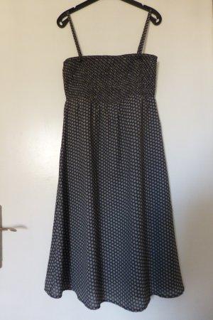 Esprit Sommerkleid in grau weiß