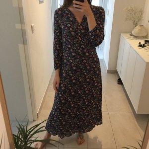 Esprit sommerliches Midi Kleid mit Blumen Print aus Viskose