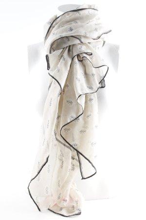 Esprit Sciarpa estiva beige-nero motivo floreale stile casual