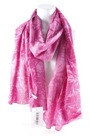 Esprit Chal veraniego rosa estampado con diseño abstracto look casual