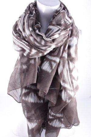 Esprit Sommerschal weiß-graubraun abstraktes Muster Street-Fashion-Look
