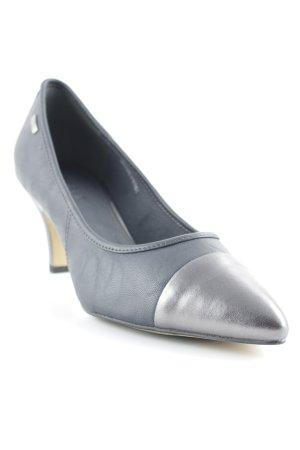 Esprit Spitz-Pumps grau-silberfarben klassischer Stil