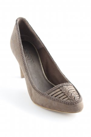 Esprit Pointed Toe Pumps light brown casual look