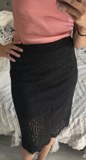 Esprit Falda de encaje negro