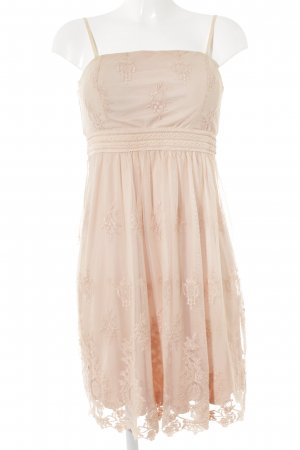 Esprit Lace Dress beige-nude floral pattern party style