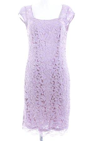 Esprit Vestido de encaje malva estampado con diseño de cachemira