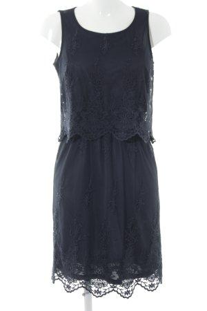 Esprit Spitzenkleid dunkelblau florales Muster Elegant