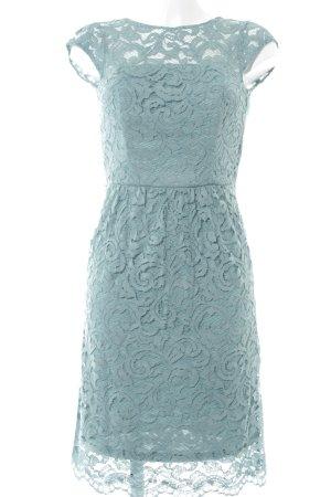 Esprit Spitzenkleid graublau florales Muster Elegant
