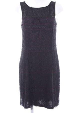 Esprit Spitzenkleid schwarz-blauviolett Elegant