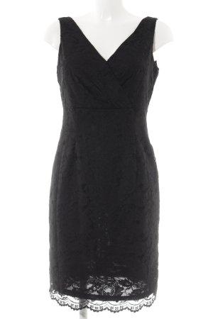 Esprit Spitzenkleid schwarz Blumenmuster Elegant
