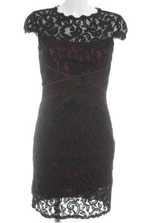 Esprit Spitzenkleid schwarz-bordeauxrot Ornamentenmuster Elegant